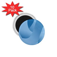 Abstract Blue Background Swirls 1 75  Magnets (10 Pack)