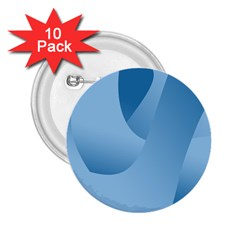Abstract Blue Background Swirls 2.25  Buttons (10 pack)