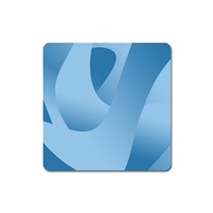 Abstract Blue Background Swirls Square Magnet