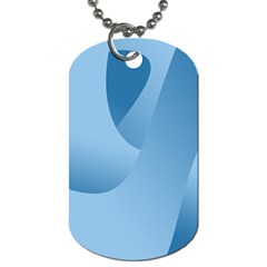 Abstract Blue Background Swirls Dog Tag (one Side)