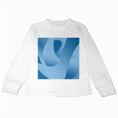 Abstract Blue Background Swirls Kids Long Sleeve T Shirts