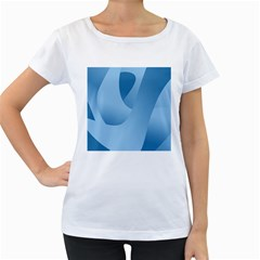 Abstract Blue Background Swirls Women s Loose Fit T Shirt (white)