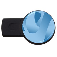 Abstract Blue Background Swirls Usb Flash Drive Round (4 Gb)