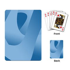 Abstract Blue Background Swirls Playing Card