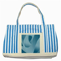 Abstract Blue Background Swirls Striped Blue Tote Bag