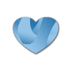 Abstract Blue Background Swirls Heart Coaster (4 Pack)