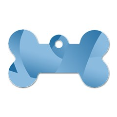 Abstract Blue Background Swirls Dog Tag Bone (two Sides)