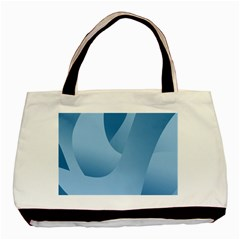 Abstract Blue Background Swirls Basic Tote Bag (two Sides)