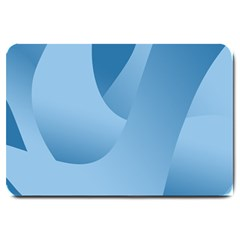 Abstract Blue Background Swirls Large Doormat