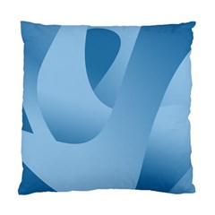 Abstract Blue Background Swirls Standard Cushion Case (two Sides)