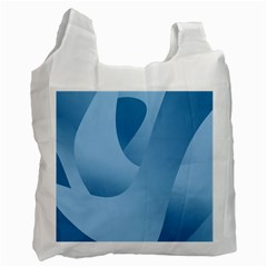 Abstract Blue Background Swirls Recycle Bag (two Side)