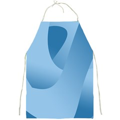 Abstract Blue Background Swirls Full Print Aprons