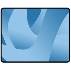 Abstract Blue Background Swirls Fleece Blanket (medium)