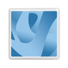 Abstract Blue Background Swirls Memory Card Reader (square)
