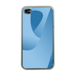 Abstract Blue Background Swirls Apple Iphone 4 Case (clear)