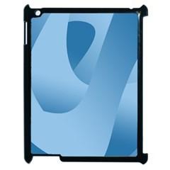 Abstract Blue Background Swirls Apple iPad 2 Case (Black)