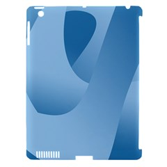 Abstract Blue Background Swirls Apple iPad 3/4 Hardshell Case (Compatible with Smart Cover)