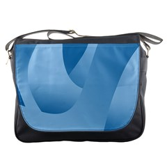 Abstract Blue Background Swirls Messenger Bags