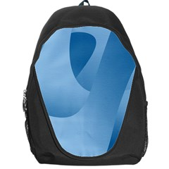 Abstract Blue Background Swirls Backpack Bag
