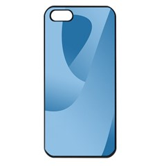 Abstract Blue Background Swirls Apple iPhone 5 Seamless Case (Black)