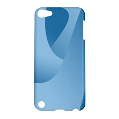 Abstract Blue Background Swirls Apple iPod Touch 5 Hardshell Case