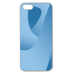 Abstract Blue Background Swirls Apple Seamless Iphone 5 Case (clear)