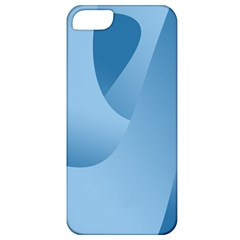 Abstract Blue Background Swirls Apple iPhone 5 Classic Hardshell Case