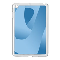 Abstract Blue Background Swirls Apple iPad Mini Case (White)