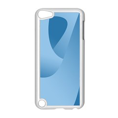 Abstract Blue Background Swirls Apple Ipod Touch 5 Case (white)