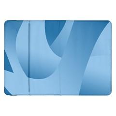 Abstract Blue Background Swirls Samsung Galaxy Tab 8.9  P7300 Flip Case