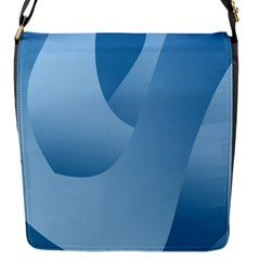 Abstract Blue Background Swirls Flap Messenger Bag (s)
