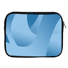 Abstract Blue Background Swirls Apple iPad 2/3/4 Zipper Cases