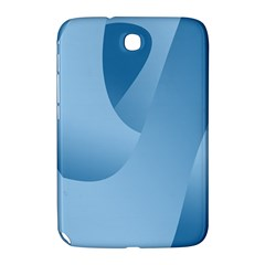 Abstract Blue Background Swirls Samsung Galaxy Note 8 0 N5100 Hardshell Case