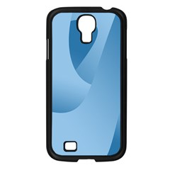 Abstract Blue Background Swirls Samsung Galaxy S4 I9500/ I9505 Case (Black)