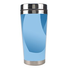 Abstract Blue Background Swirls Stainless Steel Travel Tumblers