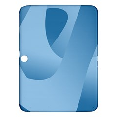 Abstract Blue Background Swirls Samsung Galaxy Tab 3 (10.1 ) P5200 Hardshell Case
