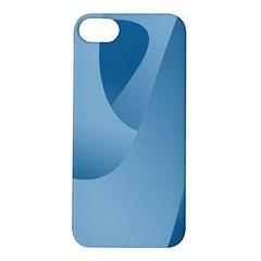 Abstract Blue Background Swirls Apple iPhone 5S/ SE Hardshell Case