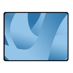 Abstract Blue Background Swirls Double Sided Fleece Blanket (Small)