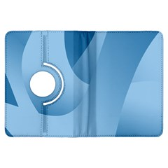Abstract Blue Background Swirls Kindle Fire HDX Flip 360 Case
