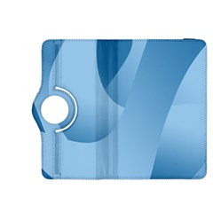 Abstract Blue Background Swirls Kindle Fire HDX 8.9  Flip 360 Case