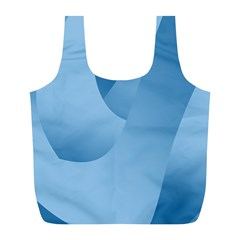 Abstract Blue Background Swirls Full Print Recycle Bags (L)