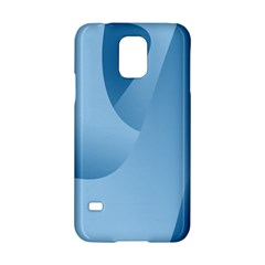 Abstract Blue Background Swirls Samsung Galaxy S5 Hardshell Case