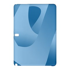 Abstract Blue Background Swirls Samsung Galaxy Tab Pro 10.1 Hardshell Case