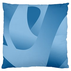Abstract Blue Background Swirls Large Flano Cushion Case (Two Sides)