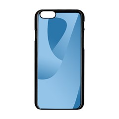 Abstract Blue Background Swirls Apple iPhone 6/6S Black Enamel Case
