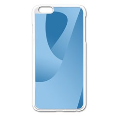 Abstract Blue Background Swirls Apple iPhone 6 Plus/6S Plus Enamel White Case