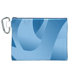Abstract Blue Background Swirls Canvas Cosmetic Bag (XL)