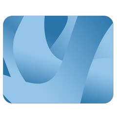 Abstract Blue Background Swirls Double Sided Flano Blanket (Medium)