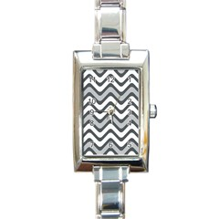 Shades Of Grey And White Wavy Lines Background Wallpaper Rectangle Italian Charm Watch