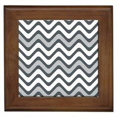 Shades Of Grey And White Wavy Lines Background Wallpaper Framed Tiles